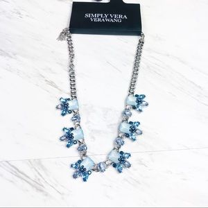 Simply Vera Wang Blue Crystal Statement Necklace